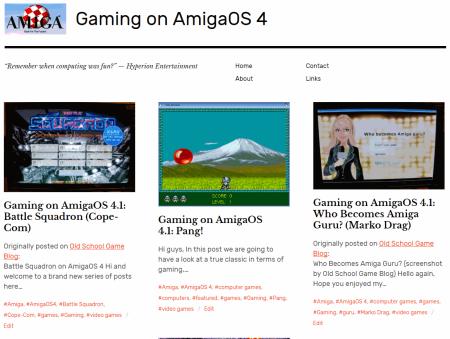 Gaming on AmigaOS 4 - New blog