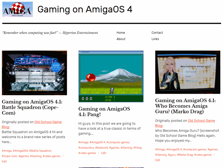Gaming on AmigaOS 4 - New blog