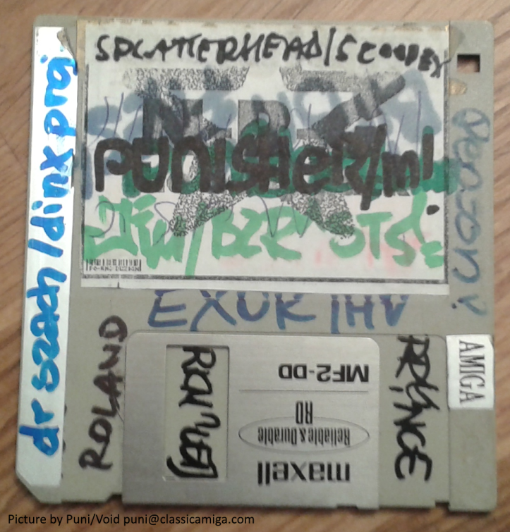 One of my old swap disks (photo by Puni/Void - Old School Game Blog)