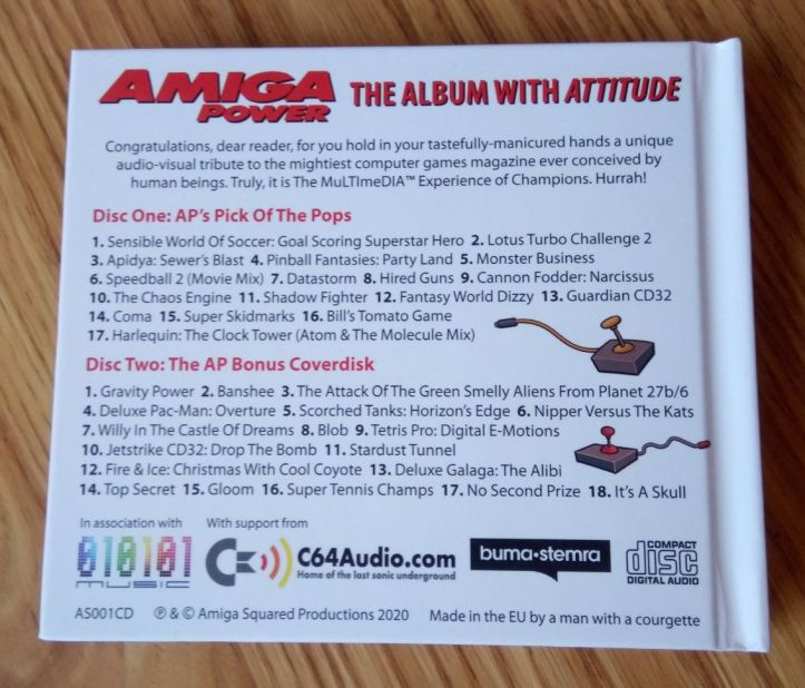 Amiga Power - The Album With Attitude - Music Album (photo by Old School Game Blog)